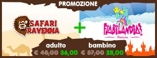PROMOZIONE: Safari Ravenna + Fiabilandia : adulto €36 / bambino €28