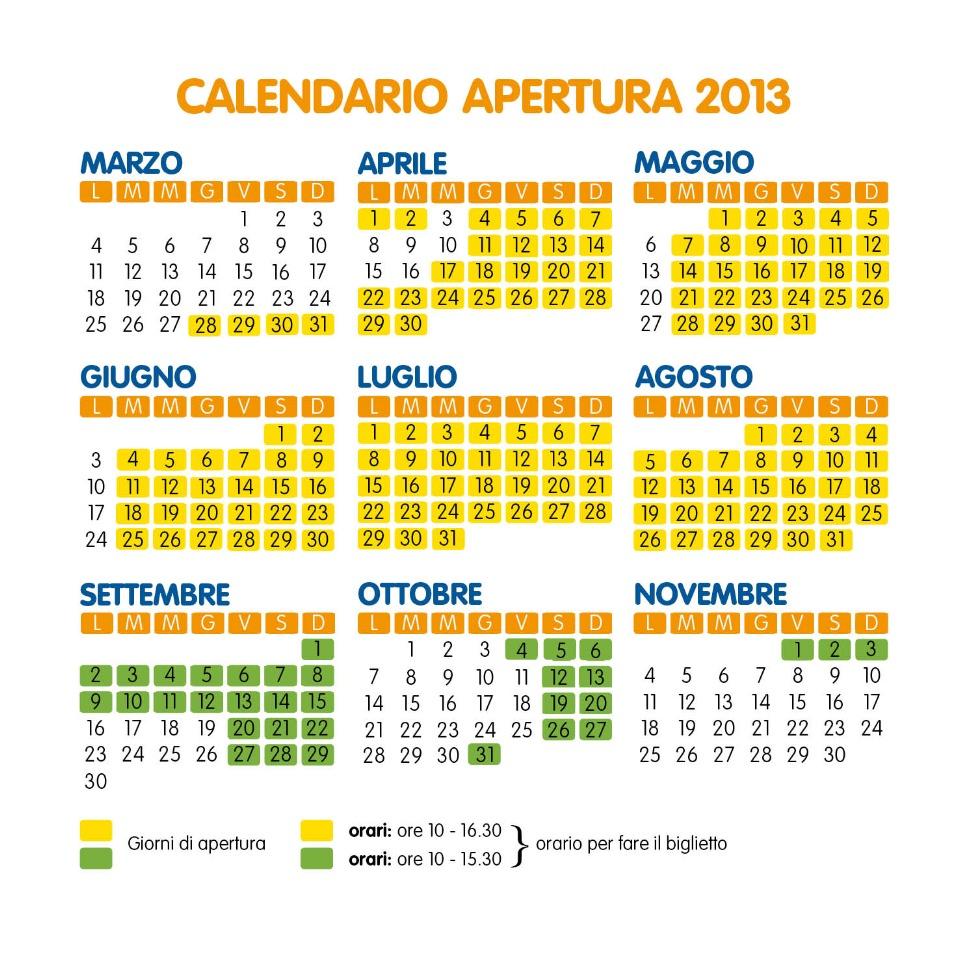Calendario Mirabilandia.Calendario 2013 Nuovo Safari Ravenna Loc Mirabilandia