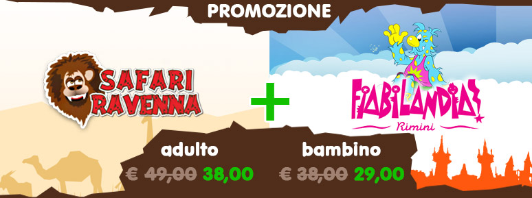 Promozione Safari Ravenna + Fiabilandia